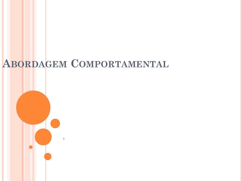 Teoria Comportamental (CHIAVENATO, 2003) Enfoque Comportamental (MAXIMIANO, 2002) Behaviorismo (PRESTES MOTTA, 1998) Abordagem Comportamental Definições