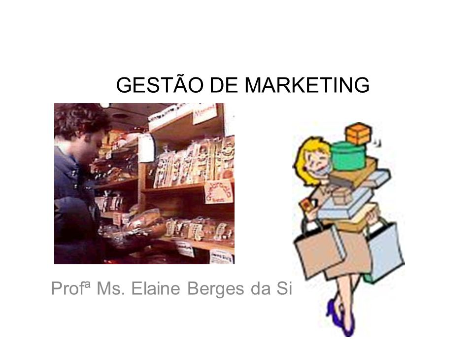 GESTÃO DE MARKETING Profª Ms. Elaine Berges da Silva