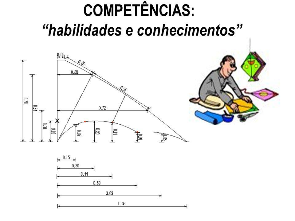 COMPETÊNCIAS: habilidades e conhecimentos