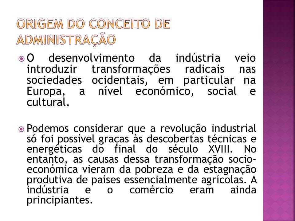O desenvolvimento da indústria veio introduzir transformações radicais nas sociedades ocidentais, em particular na Europa, a nível económico, social e