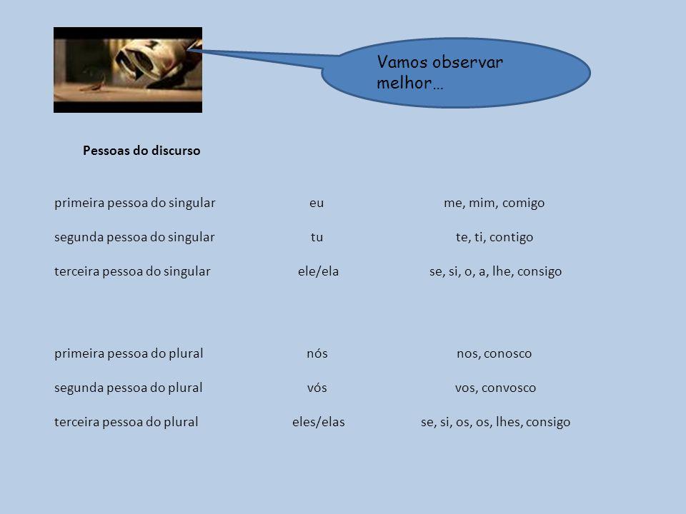 1 – Copia as frases, completando-as com os pronomes pessoais adequados.
