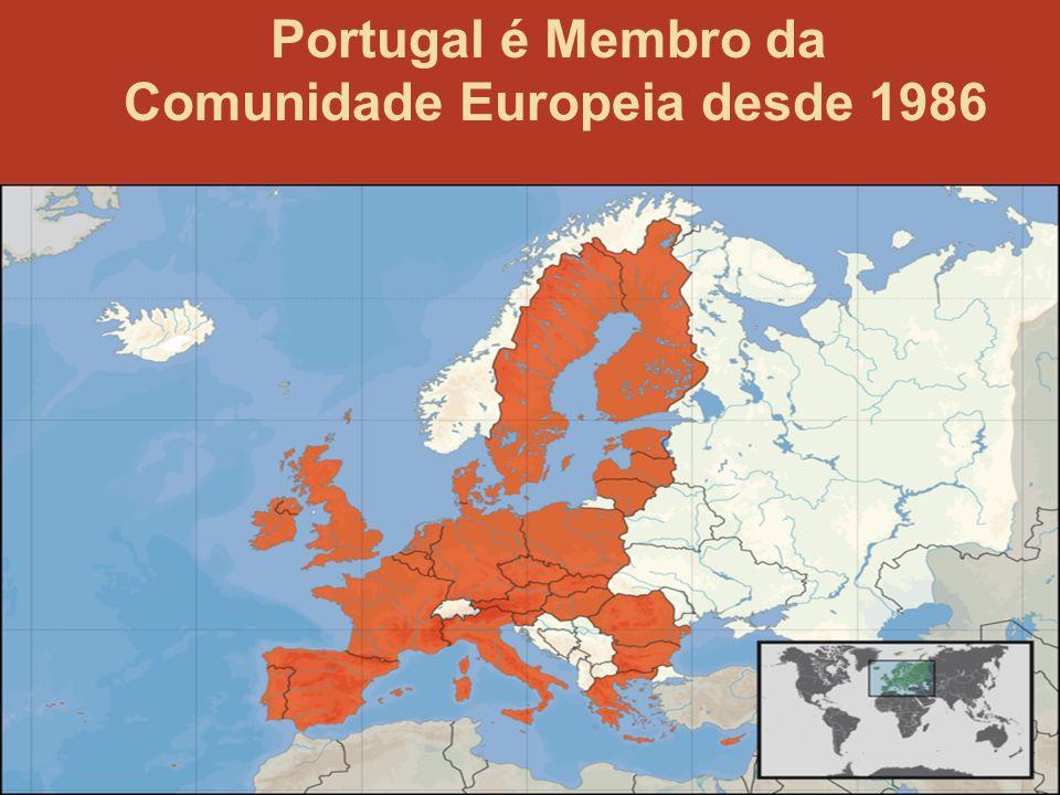 4 Portugal é Membro da Comunidade Europeia desde 1986