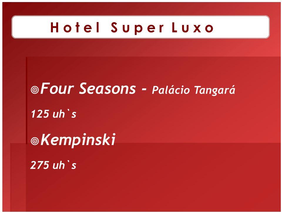 Four Seasons - Palácio Tangará 125 uh`s Kempinski 275 uh`s H o t e l S u p e r L u x o