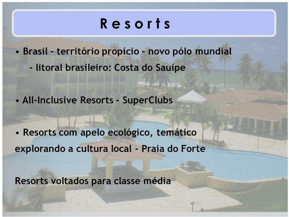 Brasil - território propício - novo pólo mundial - litoral brasileiro: Costa do Sauípe All-Inclusive Resorts - SuperClubs Resorts com apelo ecológico,