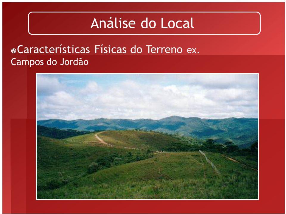 Características Físicas do Terreno ex. Salvador Análise do Local