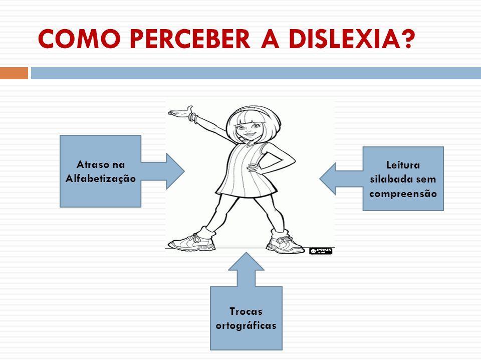 COMO PERCEBER A DISLEXIA? Atraso na Alfabetização Leitura silabada sem compreensão Trocas ortográficas
