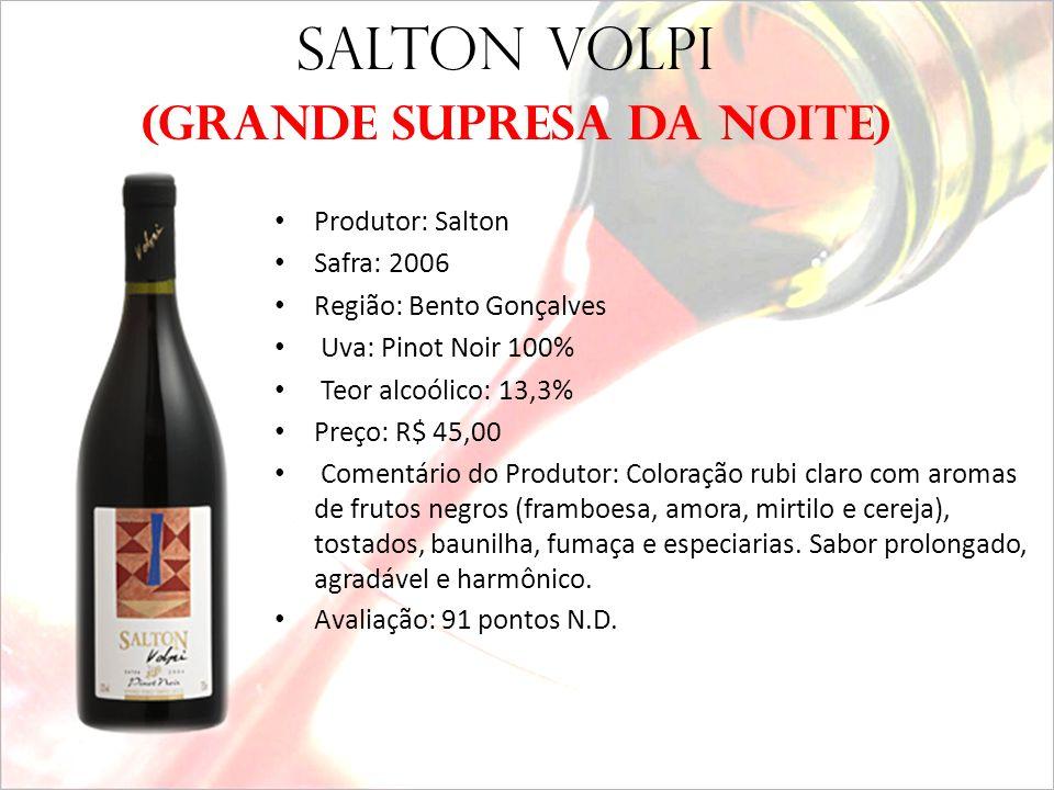 VINHO GAÚCHO SALTON VOLPI PINOT NOIR - 2006