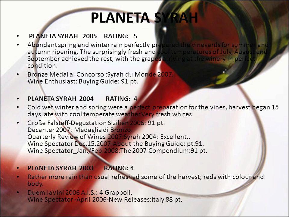 PLANETA SYRAH Vinho Planeta Syrah Tinto IGT (2003) 750ml.