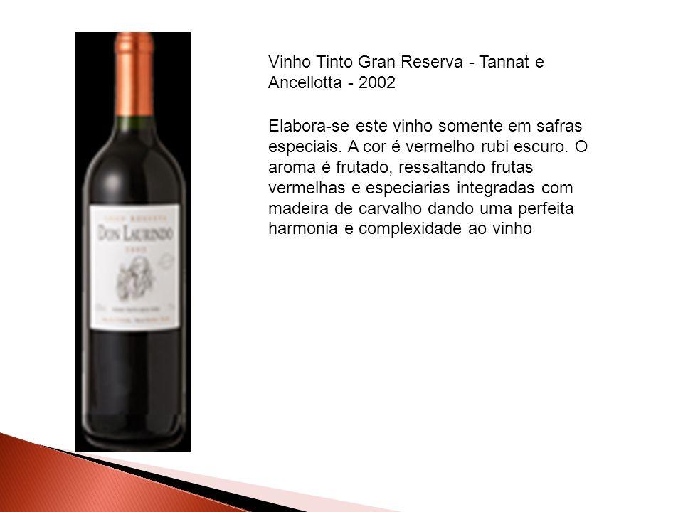 Elabora-se este vinho somente em safras especiais. A cor é vermelho rubi escuro. O aroma é frutado, ressaltando frutas vermelhas e especiarias integra