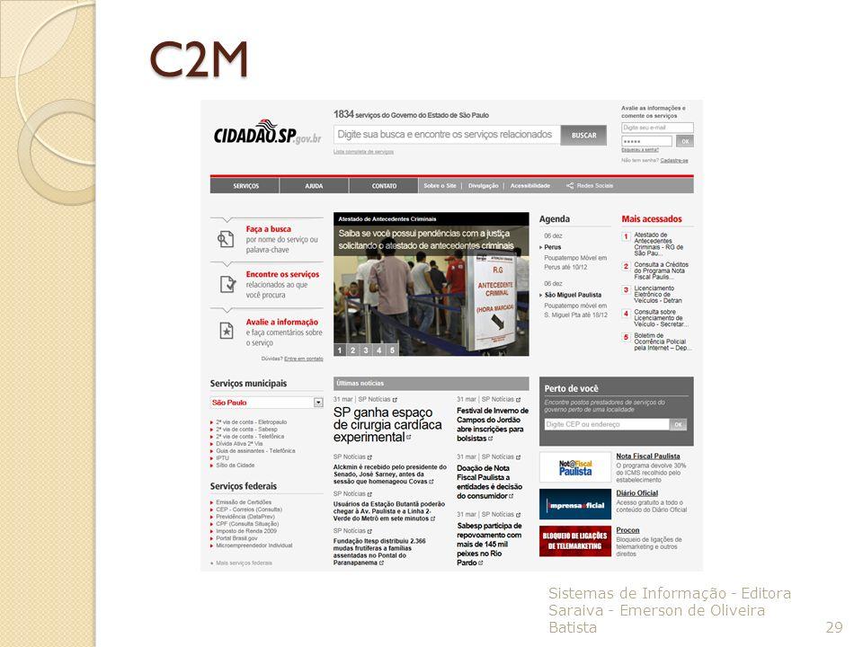 Sistemas de Informação - Editora Saraiva - Emerson de Oliveira Batista 29 C2M