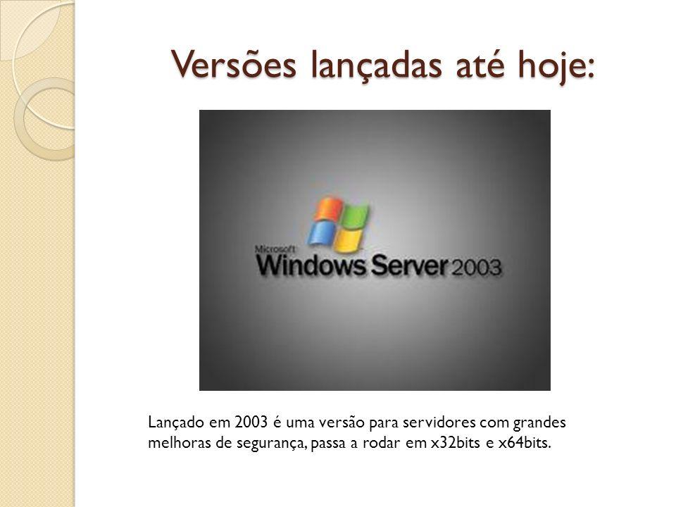 Versões lançadas até hoje: Lançado em 2003 é uma versão para servidores com grandes melhoras de segurança, passa a rodar em x32bits e x64bits.