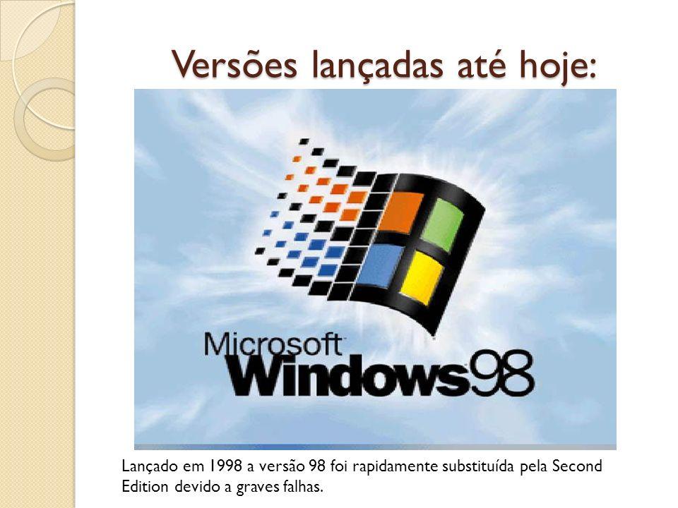 Versões lançadas até hoje: Lançado em 1998 a versão 98 foi rapidamente substituída pela Second Edition devido a graves falhas.