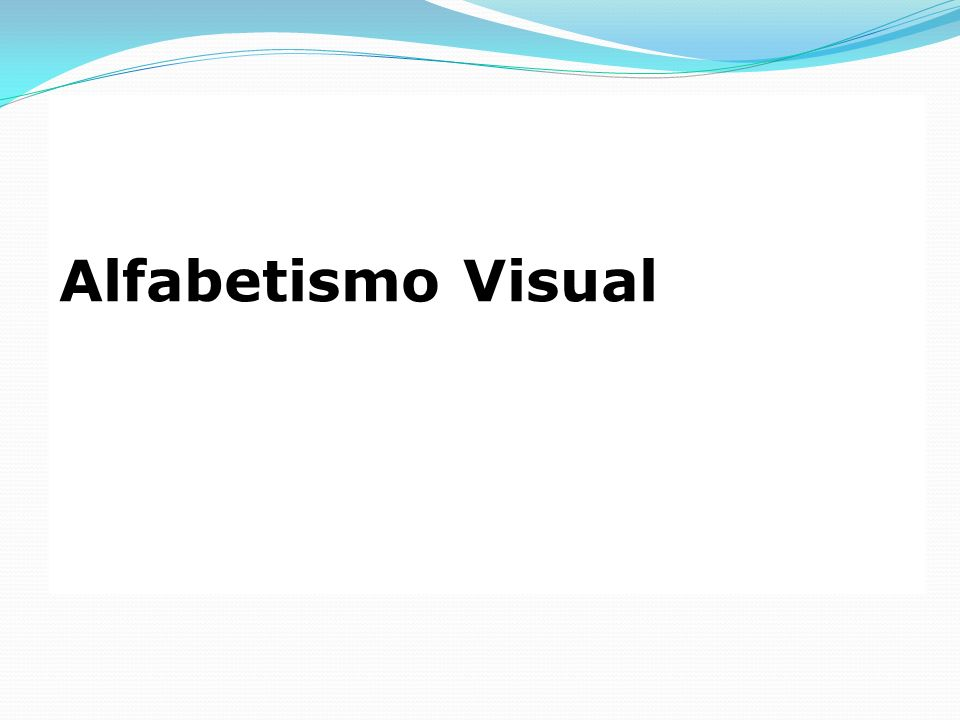 O Alfabetismo Visual é o instrumento utilizado para compreendermos, aquilo que conhecemos como, a Linguagem Visual.