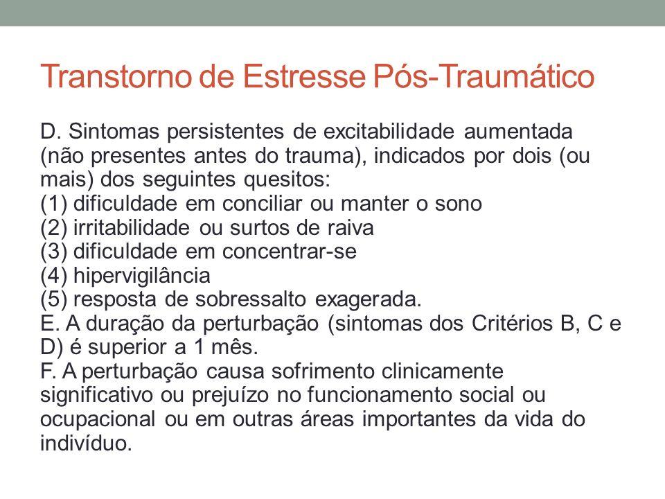 Transtorno de Estresse Agudo A.