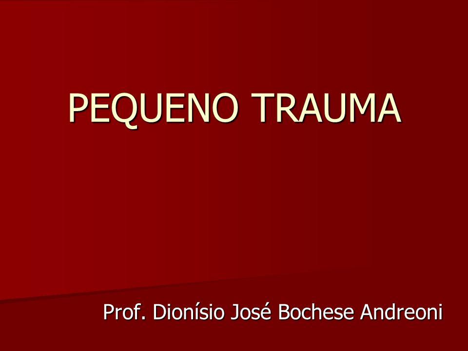 PEQUENO TRAUMA Prof. Dionísio José Bochese Andreoni