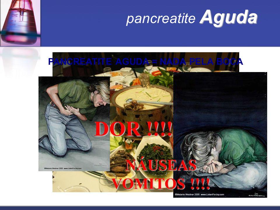 Aguda pancreatite Aguda PANCREATITE AGUDA = NADA PELA BOCA DOR !!!! NÁUSEAS VOMITOS !!!!