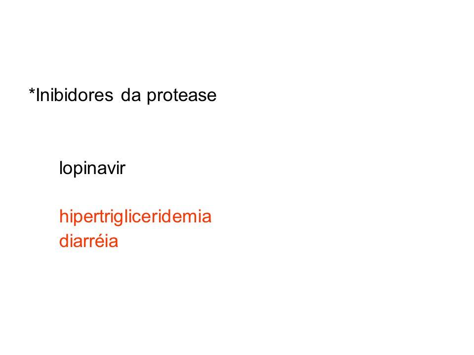 *Inibidores da protease lopinavir hipertrigliceridemia diarréia