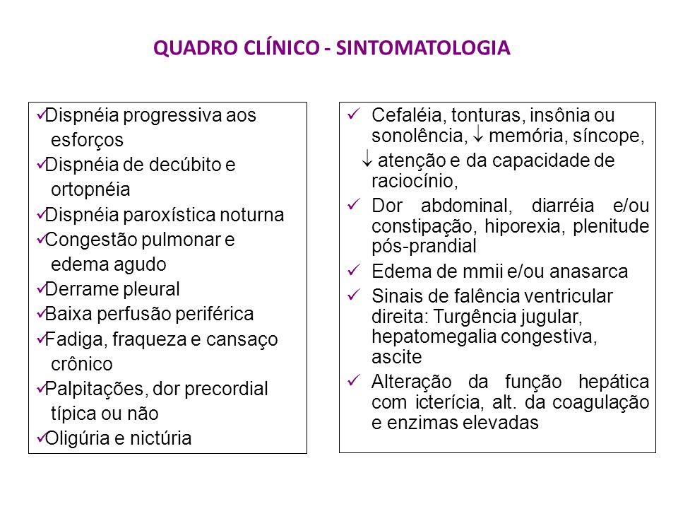 QUADRO CLÍNICO - SINTOMATOLOGIA Cefaléia, tonturas, insônia ou sonolência, memória, síncope, atenção e da capacidade de raciocínio, Dor abdominal, dia