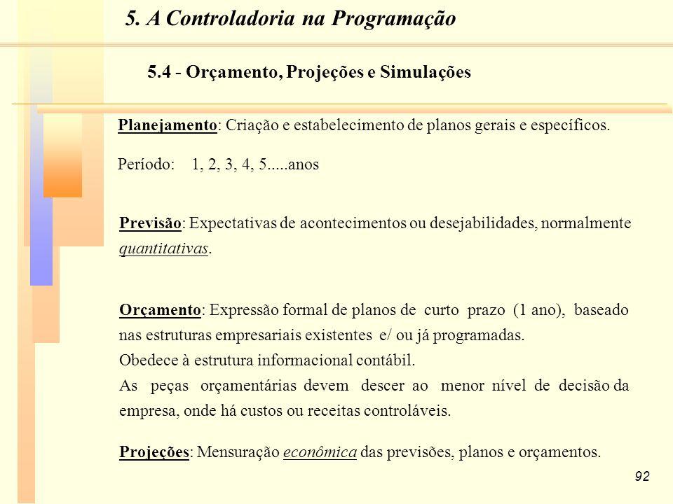 92 Planejamento: Criação e estabelecimento de planos gerais e específicos.