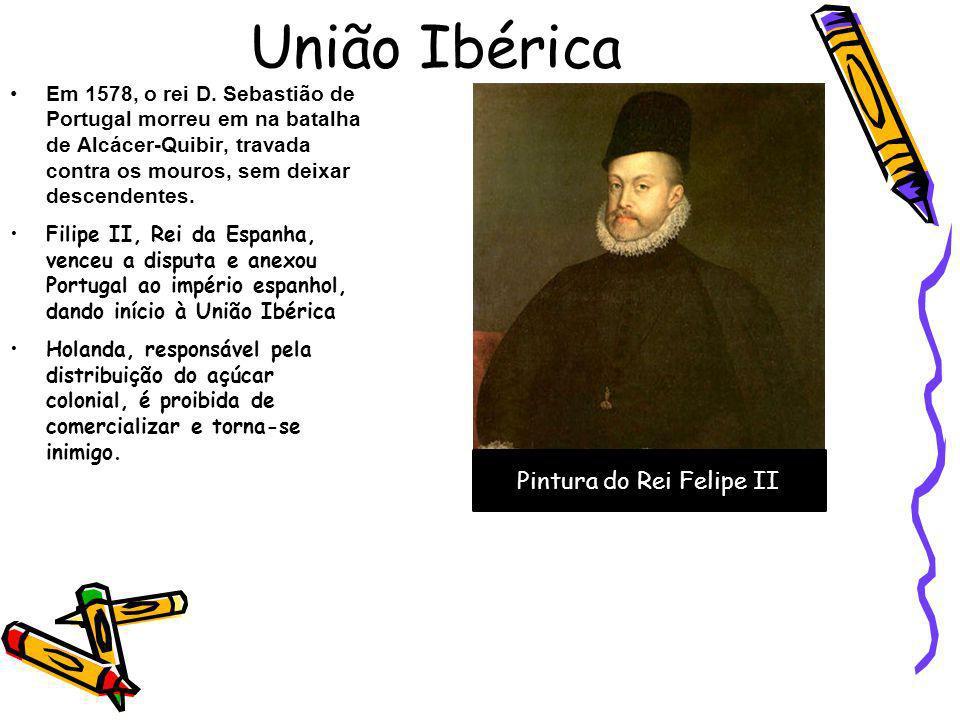União Ibérica Em 1578, o rei D. Sebastião de Portugal morreu em na batalha de Alcácer-Quibir, travada contra os mouros, sem deixar descendentes. Filip