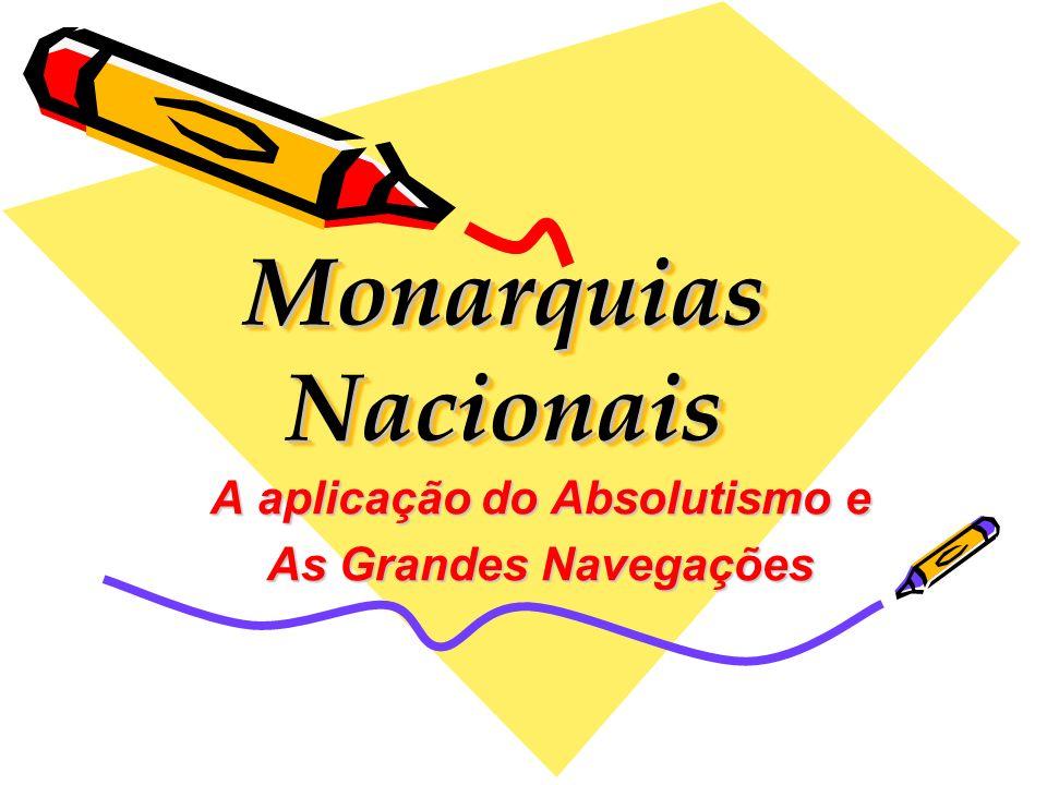 Monarquias Nacionais A aplicação do Absolutismo e As Grandes Navegações