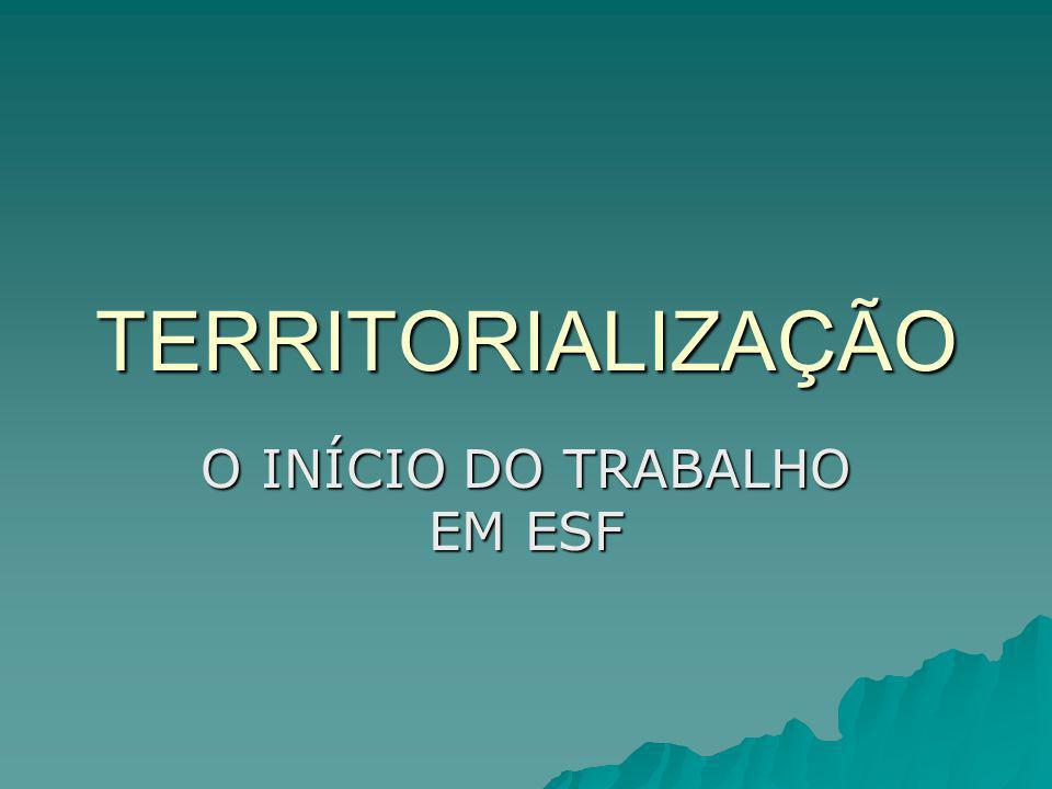 TERRITORIALIZAÇÃO O INÍCIO DO TRABALHO EM ESF
