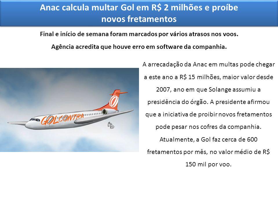 Anac calcula multar Gol em R$ 2 milhões e proíbe novos fretamentos Final e início de semana foram marcados por vários atrasos nos voos. Agência acredi