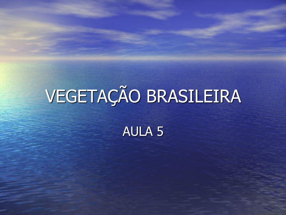 VEGETAÇÃO BRASILEIRA AULA 5