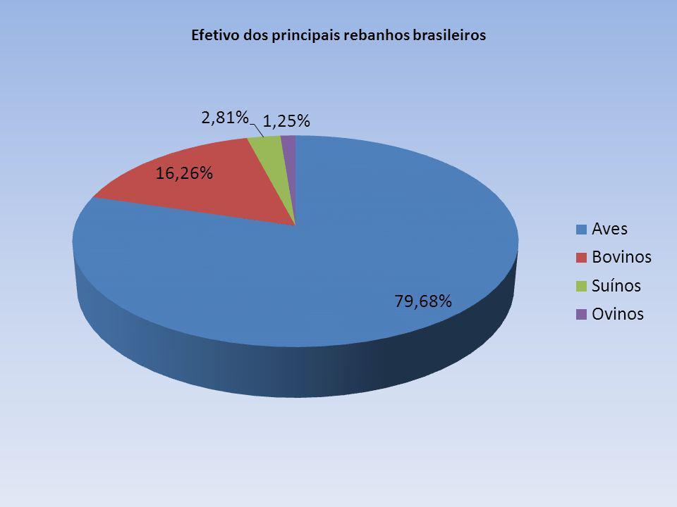 Efetivo dos principais rebanhos brasileiros