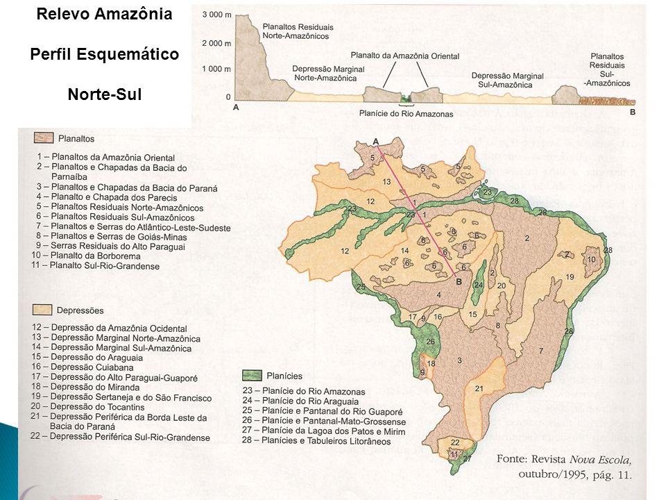 Relevo Amazônia Perfil Esquemático Norte-Sul