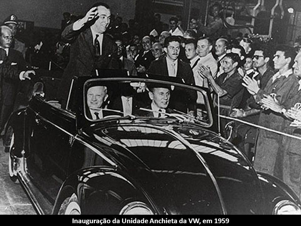 Inauguração da Unidade Anchieta da VW, em 1959