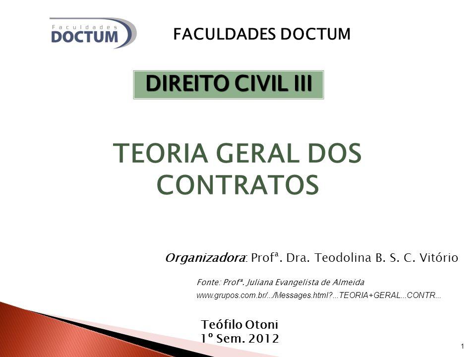 1 Organizadora: Profª.Dra. Teodolina B. S. C. Vitório Teófilo Otoni 1º Sem.