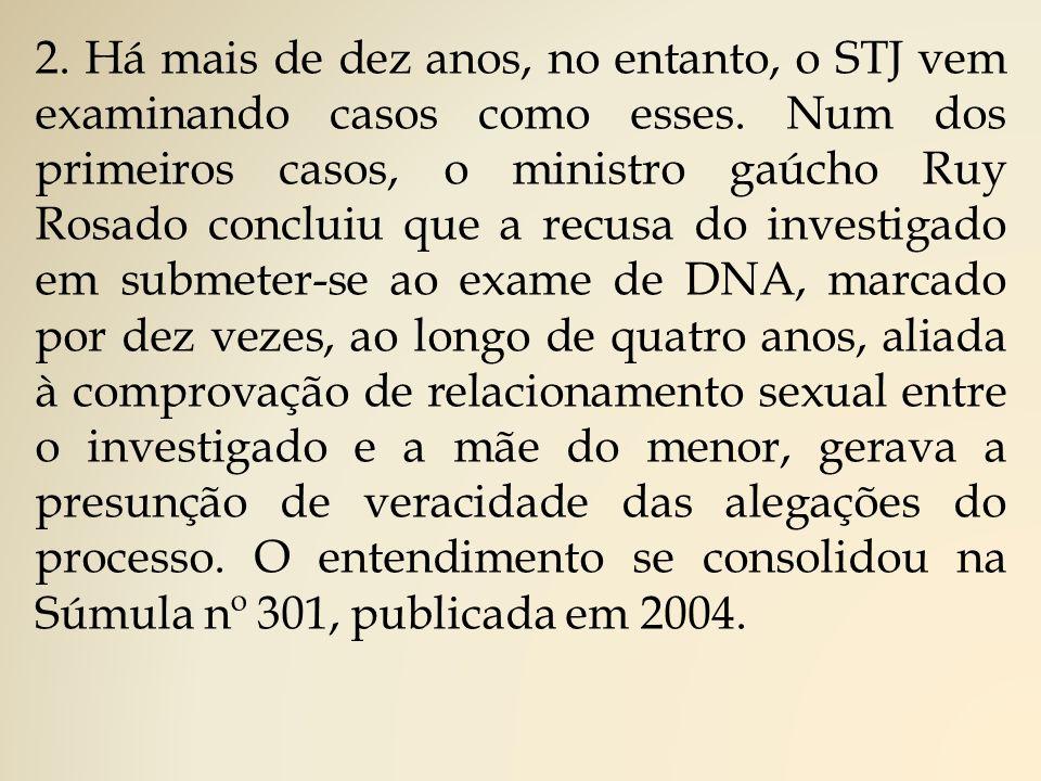 2.Há mais de dez anos, no entanto, o STJ vem examinando casos como esses.