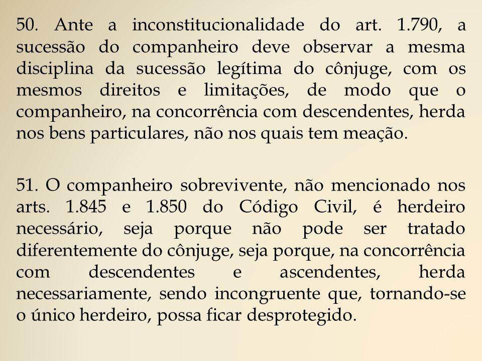50.Ante a inconstitucionalidade do art.