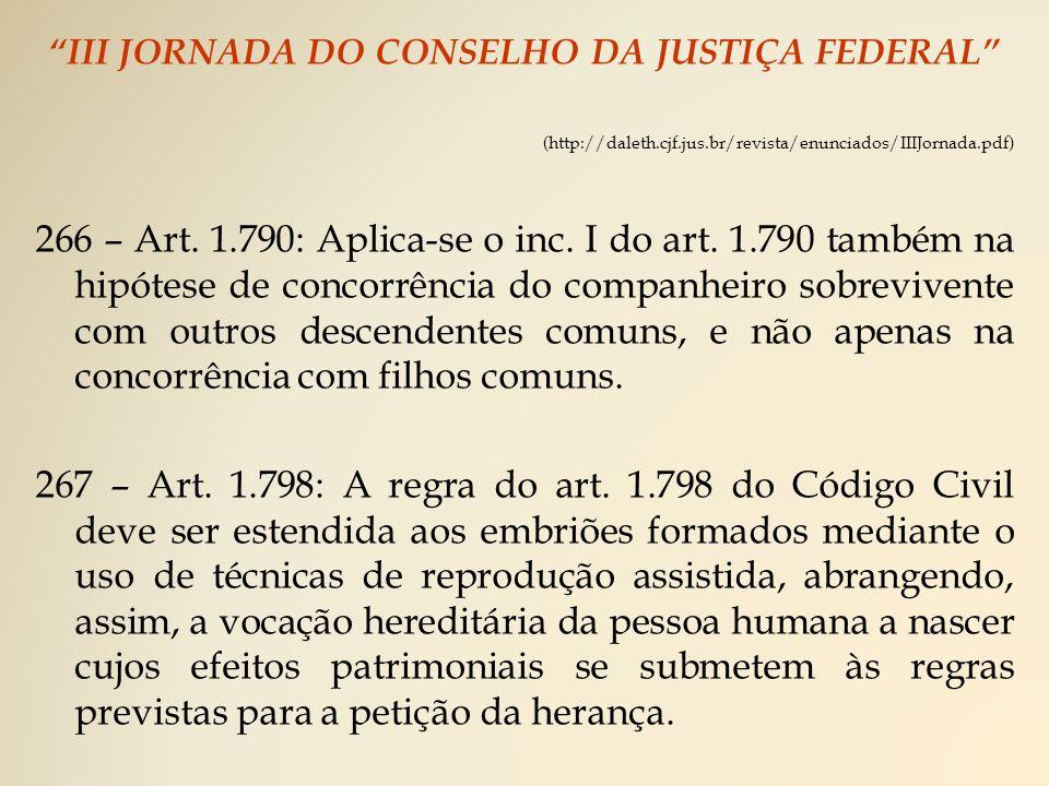 III JORNADA DO CONSELHO DA JUSTIÇA FEDERAL (http://daleth.cjf.jus.br/revista/enunciados/IIIJornada.pdf) 266 – Art.
