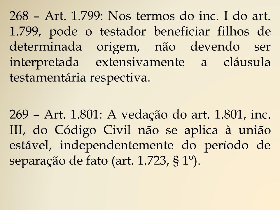 268 – Art.1.799: Nos termos do inc. I do art.
