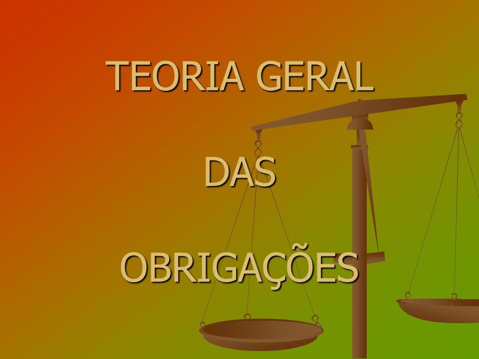 TEORIA GERAL DASOBRIGAÇÕES