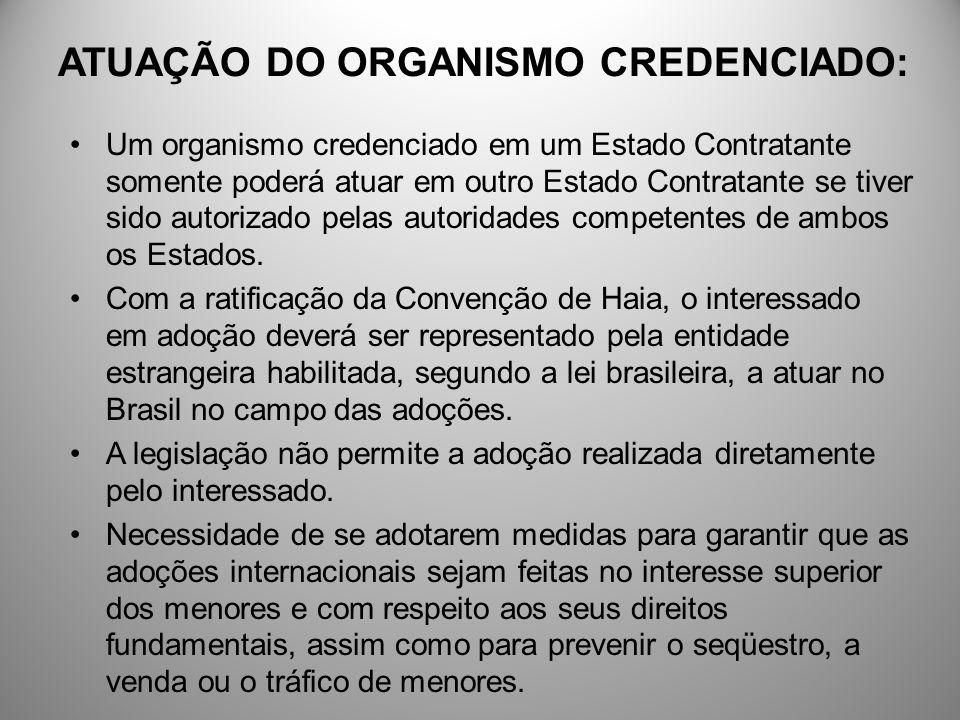 ATUAÇÃO DO ORGANISMO CREDENCIADO: Um organismo credenciado em um Estado Contratante somente poderá atuar em outro Estado Contratante se tiver sido aut