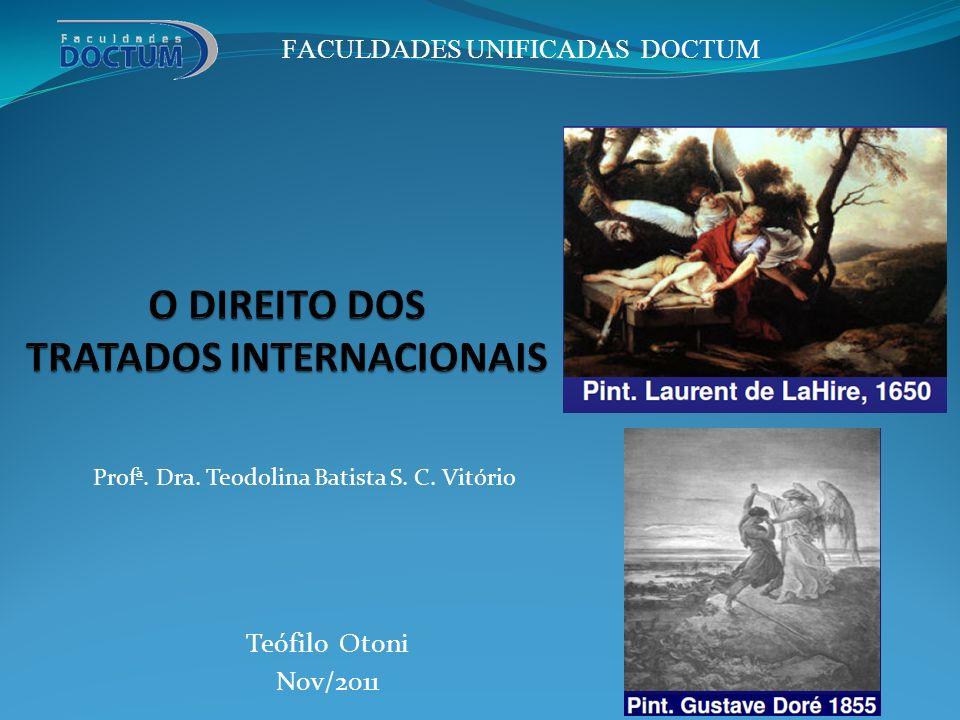 Profª. Dra. Teodolina Batista S. C. Vitório Teófilo Otoni Nov/2011 FACULDADES UNIFICADAS DOCTUM