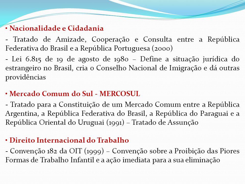 Nacionalidade e Cidadania - Tratado de Amizade, Cooperação e Consulta entre a República Federativa do Brasil e a República Portuguesa (2000) - Lei 6.8