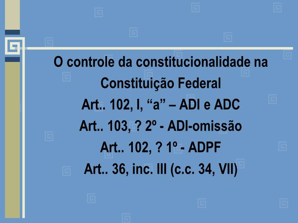 - Representação de Inconstitucionalidade de atos e normativos estaduais ou municipais em face da Constituição Estadual: Art..