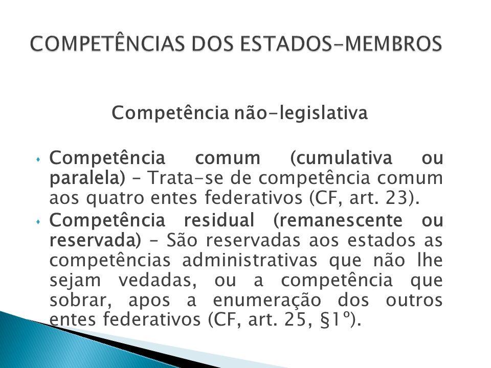 Competência legislativa Expressa: Os Estados organizam-se e regem-se pelas Constituições e leis que adotarem, observado os princípios desta Constituição (art.