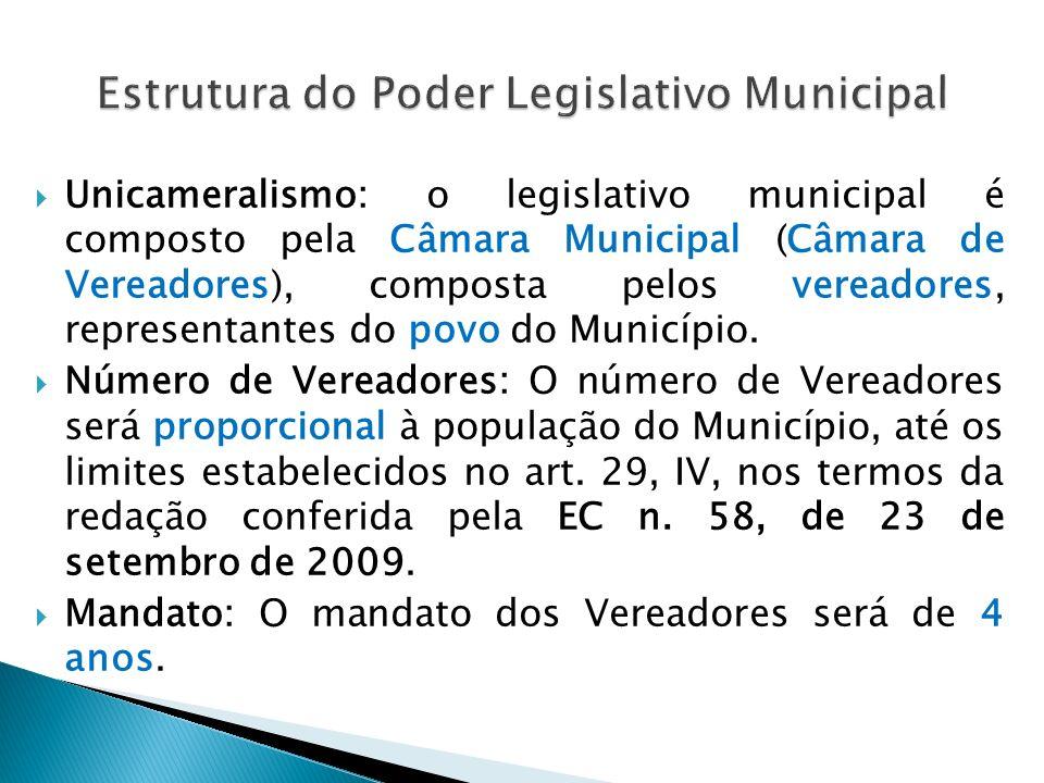 Unicameralismo: o legislativo distrital é exercido pela Câmara Legislativa (CF, art.