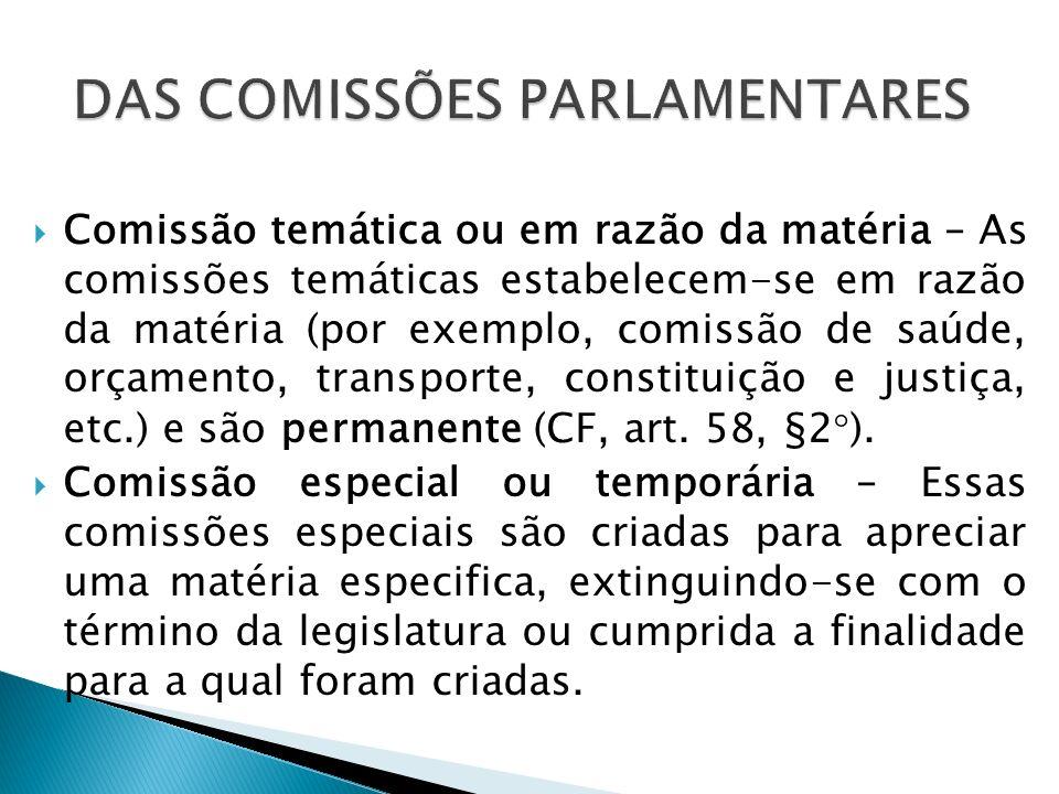 Comissão mista – São formadas por Deputados e Senadores para apreciar, dentre outros e em especial, os assuntos que devam ser examinados em sessão conjunta pelo Congresso Nacional.