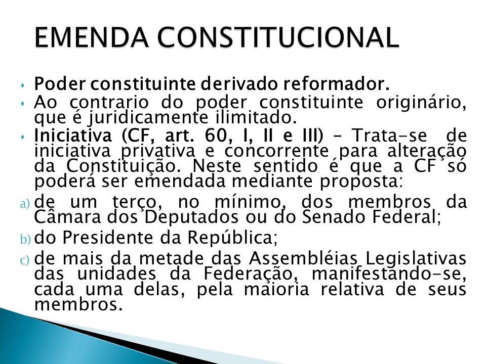 Quorum de aprovação (CF, art.