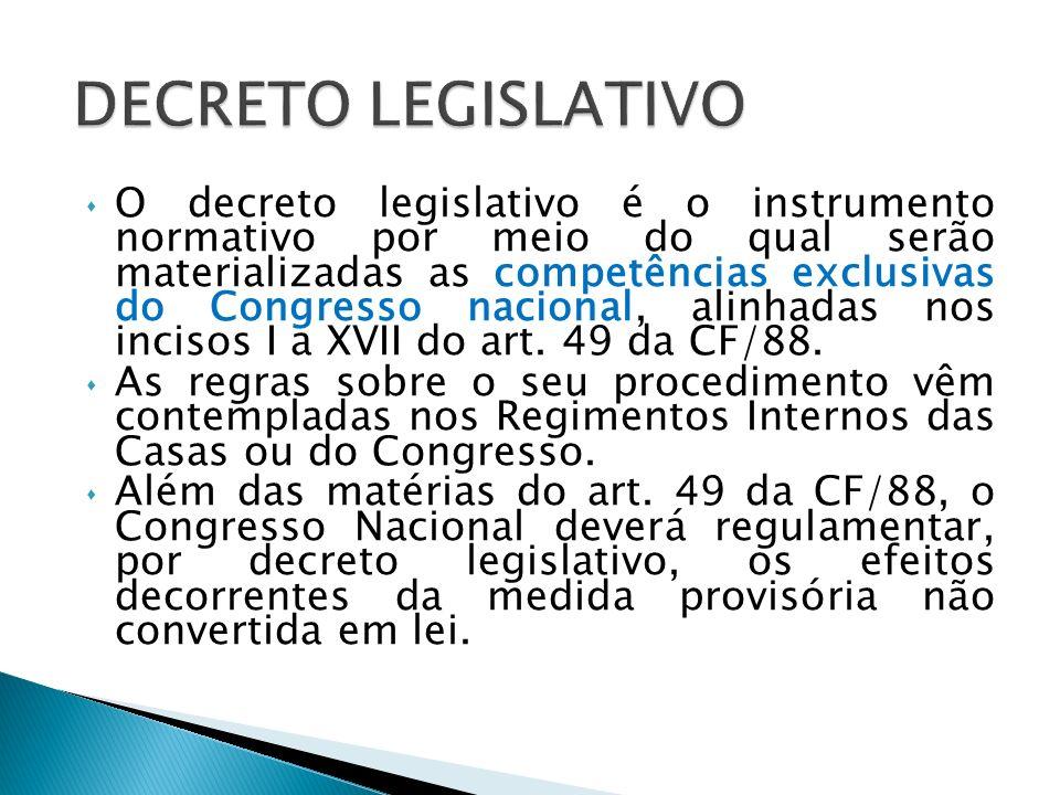 Por meio das resoluções regulamentar-se-ão as matérias de competência privativa da Câmara dos Deputados (CF, art.
