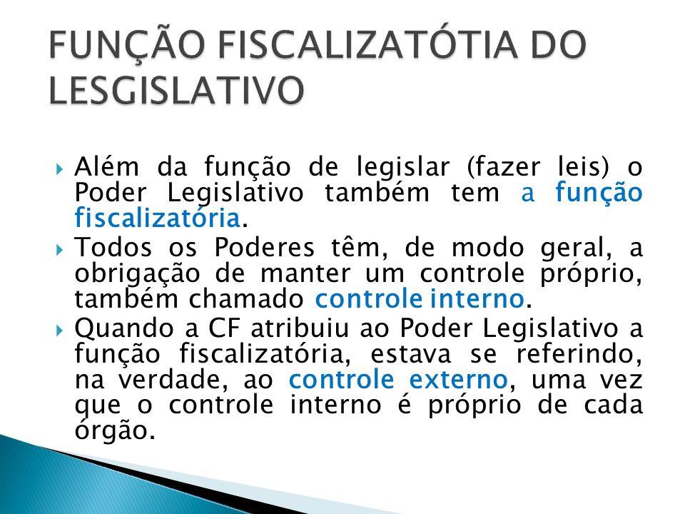 Dentro de sua função fiscalizatória, o Legislativo realiza o controle COFOP das entidades da administração direta e indireta.