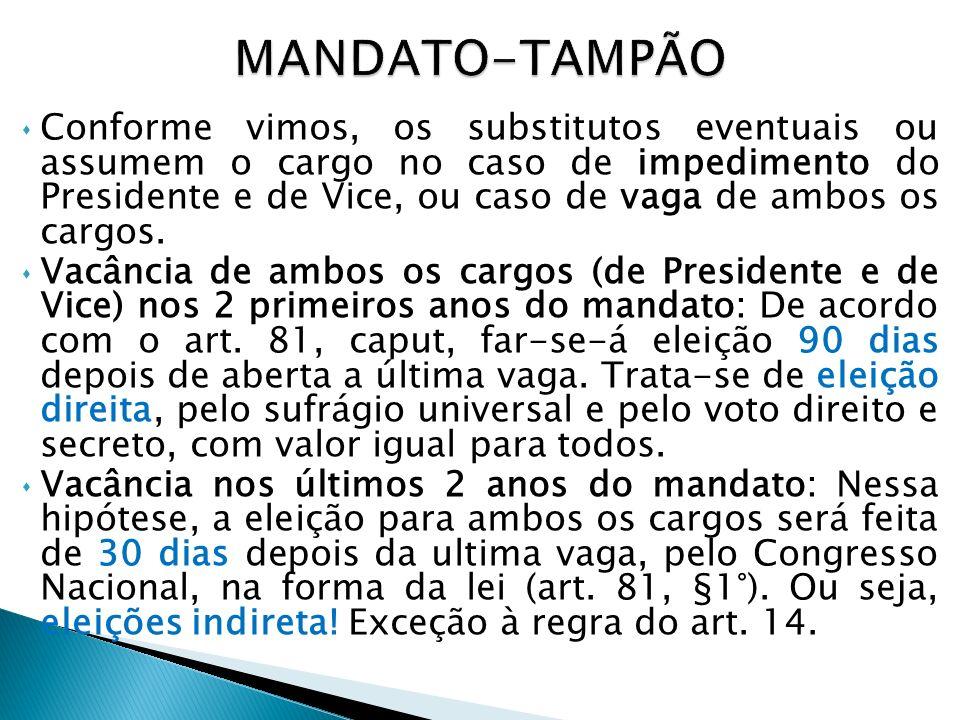 Os Ministros de Estado são meros auxiliares do Presidente da República no exercício do Poder Executivo e na direção superior da administração federal.