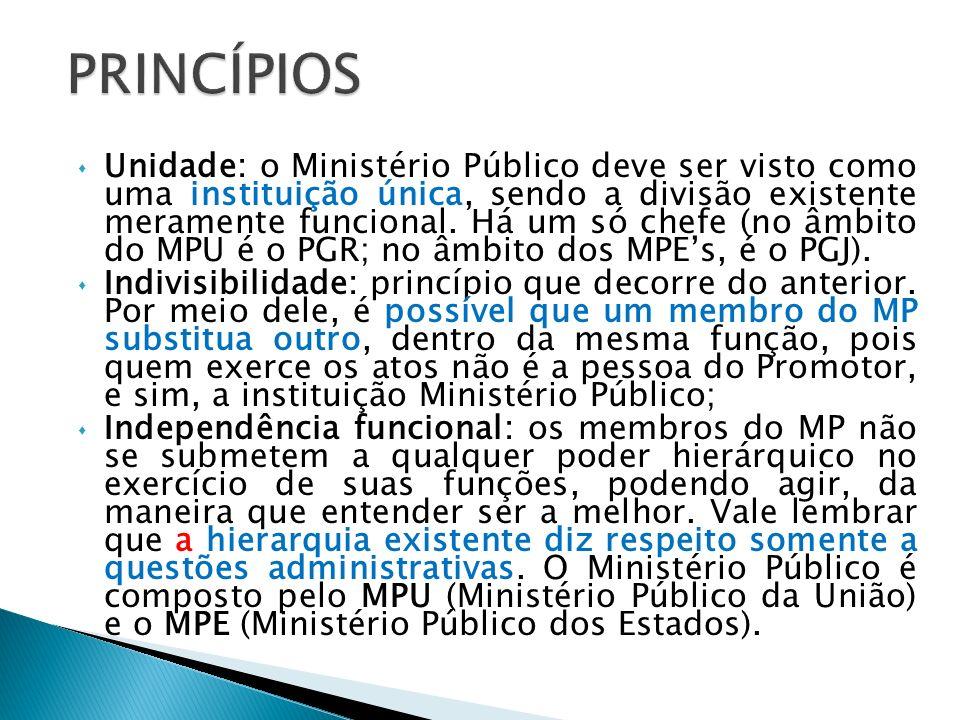 As garantias e vedações do Ministério Público seguem as mesmas regras já estudadas em relação ao Poder Judiciário.