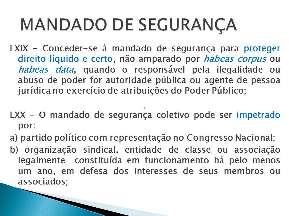LXXI - Conceder-se-á mandado de injunção sempre que a falta de norma regulamentadora torne inviável o exercício dos direitos e liberdades constitucionais e das prerrogativas inerentes à nacionalidade, à soberania e à cidadania; Mandado de Injunção serve para impedir que a falta de norma regulamentadora torne inviável o exercício dos direitos e liberdades constitucionais e das prerrogativas inerentes à nacionalidade, à soberania e à cidadania.